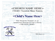 Bibleschoolresources free building up gods house vbs materials optional plastic construction hats can be handed out with the certificates these may be purchased online from the oriental trading company and personalized yadclub Image collections